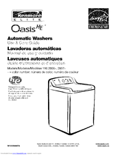 kenmore 2806 elite oasis he 4 7 cu ft capacity washer manuals rh manualslib com Kenmore Washer Model 110 Manual Kenmore 110 Dryer Parts Diagram