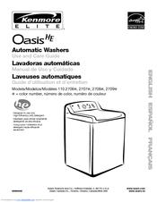 kenmore elite oasis he 110 2706 series manuals rh manualslib com Kenmore Washing Machine kenmore elite oasis he washer troubleshooting