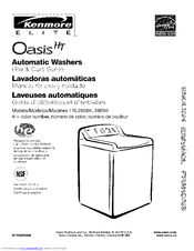 Kenmore Oasis Ht W10026626b Manuals