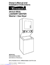 kenmore laundry center 3405594 manuals rh manualslib com kenmore elite washer service manual kenmore washer 44722 owners manual