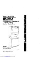 kenmore washer dryer manuals rh manualslib com sears washer owners manual kenmore 300 series washer owners manual
