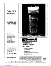 Kenmore 625.3845 Owner's Manual