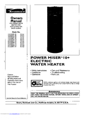 Kenmore Power Miser 10+ 153.320391 HT Owner's Manual