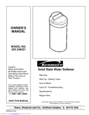 Kenmore 625.348321 Owner's Manual