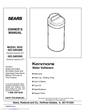 Kenmore 625.348320 Owner's Manual