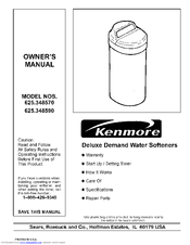Kenmore 625.34857 Owner's Manual