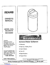 Kenmore 625.348470 Owner's Manual