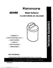 Kenmore SEARS 625.34846 Owner's Manual