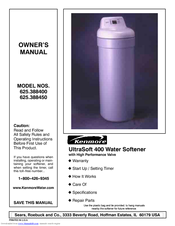 Kenmore ULTRASOFT 400 625.3884 Owner's Manual