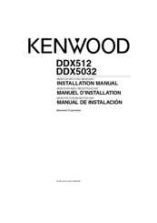 Kenwood DDX5032 Installation Manual