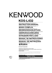 Kenwood KOS-L432 Instruction Manual