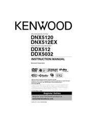 Kenwood DNX5120 - Navigation System With DVD player Instruction Manual