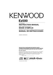 kenwood ez500 radio cd manuals rh manualslib com Kenwood CD Receiver Manual Kenwood EZ500 H3
