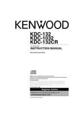 kenwood kdc 132 am fm cd in dash receiver manuals rh manualslib com Kenwood KDC Wiring Harness Diagram kenwood kdc 122 manual