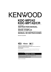 Kenwood KDC-MP242 - Radio / CD Instruction Manual