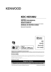 kenwood kdc hd548u manuals