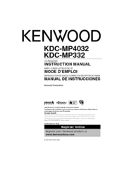 kenwood kdc mp4032 manuals rh manualslib com Kenwood KDC- 152 kenwood kdc-mp4032 manual