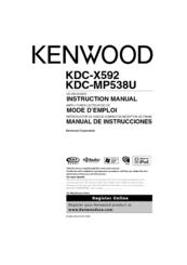 kenwood kdc mp538u instruction manual pdf download rh manualslib com Kenwood KDC Wiring Harness Diagram kenwood kdc-mp538u manual