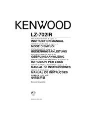 Kenwood 702IR - LZ - LCD Monitor Instruction Manual