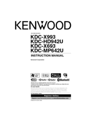 kenwood excelon kdc x993 instruction manual pdf download  kenwood excelon kdc x693 cd receiver at