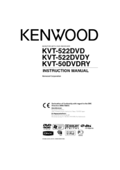 Kenwood KVT-522DVD Instruction Manual