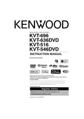 Kenwood KVT-546DVD Instruction Manual