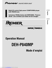 Pioneer CRD3569-A Operation Manual
