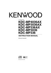 kenwood kdc mp3036ax manuals rh manualslib com