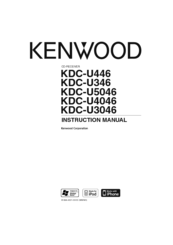Kenwood KDC-U346 Instruction Manual