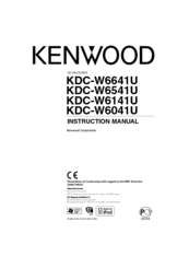 Kenwood KDC-W6041U Instruction Manual