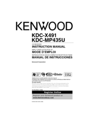 kenwood kdc x491 manuals