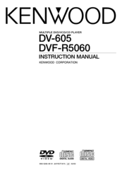 Kenwood DV-R5060 Instruction Manual