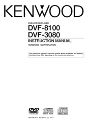 Kenwood DVF-3080 Instruction Manual