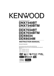 Kenwood DDX6034 Instruction Manual