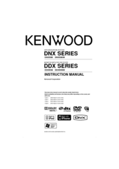 Kenwood DDX5036M Instruction Manual