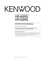 Kenwood VR-60RS Instruction Manual
