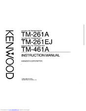 Kenwood TM-261A Instruction Manual