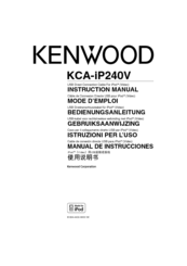 Kenwood KDV-MP6439U Instruction Manual
