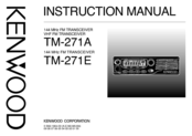 Kenwood TM-271 Instruction Manual