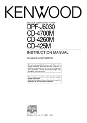 Kenwood CD-425 Instruction Manual