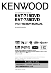 Kenwood 719DVD - DVD Player With LCD monitor Instruction Manual