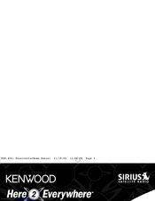 Kenwood Here2Everywhere SYSTEM-H2EV Operating Instructions Manual