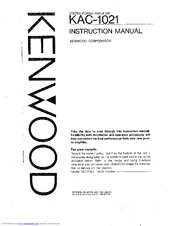 kenwood kac 1021 manuals rh manualslib com