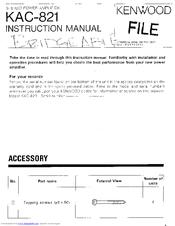 kenwood kac 821 manuals rh manualslib com Kenwood KAC 7005Ps Kenwood Amp