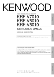Kenwood KRF-V7010 Instruction Manual