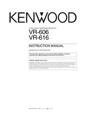 kenwood vr 606 vr 616 instruction manual pdf download rh manualslib com kenwood home stereo system manual kenwood car stereo system manual