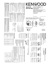 Kenwood AMPED XR-S17P Instruction Manual
