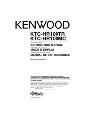 Kenwood KTC-HR100MC Instruction Manual