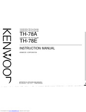 Kenwood TH-78E Instruction Manual