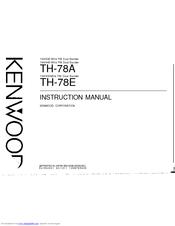 Kenwood TH-78E Instruction Manual